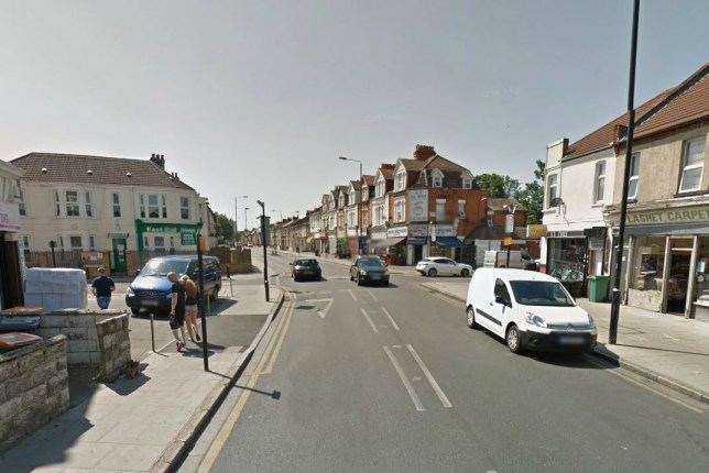 The cyclist was knocked over in Forest Gate, East London (Picture: Google Street View)