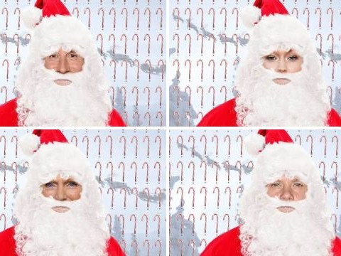Can you guess the celeb hidden under Santa's beard?