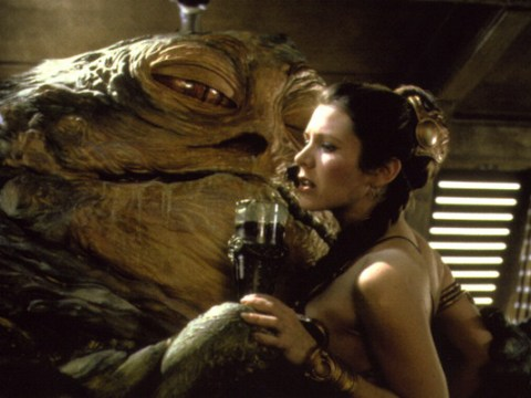 Star Wars legend Carrie Fisher has a VERY clear message for Jabba the Hutt