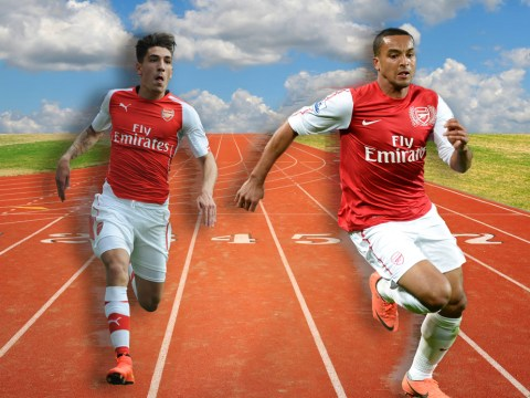 Arsenal's Theo Walcott has finally challenged Hector Bellerin to a race