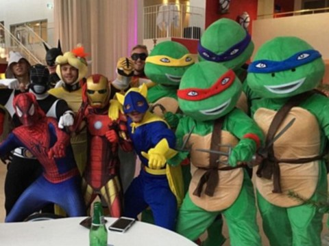 Leicester City celebrate topping table with Copenhagen pub trip dressed as Teenage Mutant Ninja Turtles