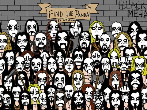 So you found the panda in the snowmen. But can you find HEAVY METAL panda?