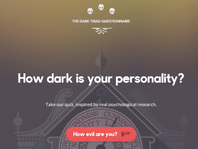 This test reveals how evil you really are by measuring
