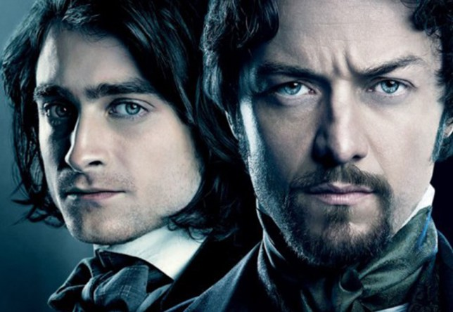 No Merchandising. Editorial Use Only. No Book Cover Usage Mandatory Credit: Photo by Moviestore/REX Shutterstock (5337109a) James McAvoy, Daniel Radcliffe Victor Frankenstein - 2015