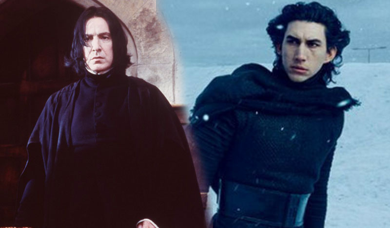 A Star Wars fan theory might mean Kylo Ren and Professor Snape have more than looks in common
