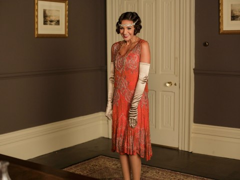 Michelle Keegan shows up in Downton Abbey – except it's all in aid of Text Santa