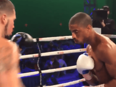 Watch actor Michael B Jordon get knocked out for real in the boxing ring filming Creed
