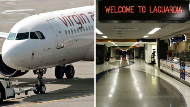Passenger barred from plane after 'pushing in front' of flight crew while entering airport