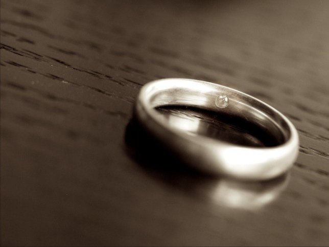 wedding ring with your partner's DNA