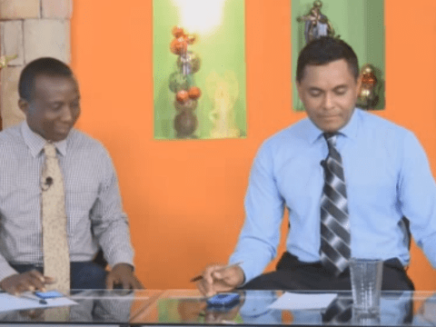 'Ghost' moves a glass during live news programme