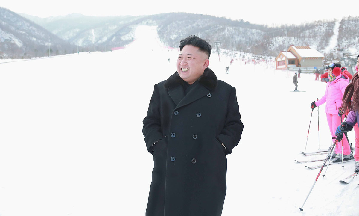 Kim Jong-Un has invited snowboarders to North Korea (and threatened war, again) Credit: KCNA/Reuters