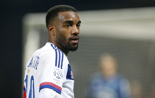 LYON, FRANCE - NOVEMBER 8: Alexandre Lacazette of Lyon looks on during the French Ligue 1 match between Olympique Lyonnais (OL) and AS Saint-Etienne (ASSE) at Stade de Gerland on November 8, 2015 in Lyon, France. (Photo by Jean Catuffe/Getty Images)