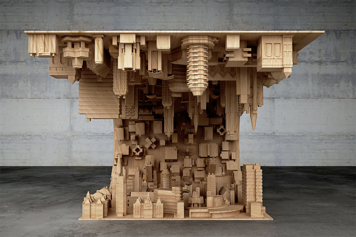 This is the most beautiful coffee table you will EVER see – and it's totally Inception inspired