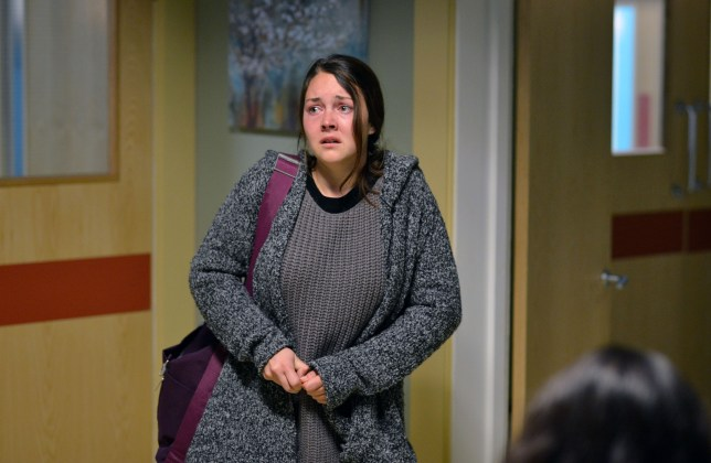 WARNING: Embargoed for publication until 00:00:01 on 12/01/2016 - Programme Name: Eastenders - TX: 21/01/2016 - Episode: 5215 (No. n/a) - Picture Shows: Stacey arrives at the hospital but can Martin convince her to go in? Stacey Branning (LACEY TURNER) - (C) BBC - Photographer: Kieron McCarron