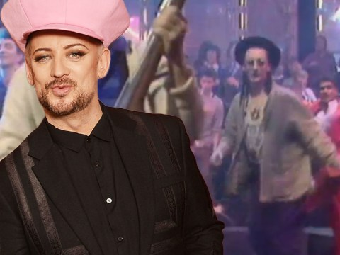 Here's a very young Boy George in the audience of Top of The Pops in 1981…