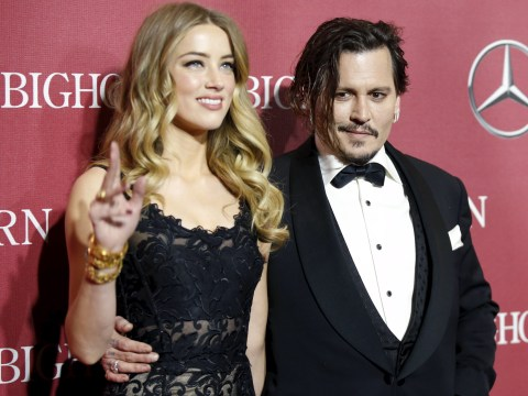 Johnny Depp had the sweetest message for wife Amber Heard as he accepted film award