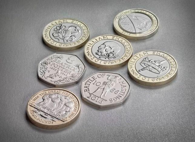 Undated handout photo issued by Royal Mint of several new coin designs that will feature on coins in 2016. PRESS ASSOCIATION Photo. Issue date: Friday January 1, 2016. The Royal Mint said each of the new coins gives a snapshot of Britain over the last 1,000 years, marking key moments, organisations and people that have shaped the nation today. See PA story MONEY Coins. Photo credit should read: Royal Mint/PA Wire NOTE TO EDITORS: This handout photo may only be used in for editorial reporting purposes for the contemporaneous illustration of events, things or the people in the image or facts mentioned in the caption. Reuse of the picture may require further permission from the copyright holder.