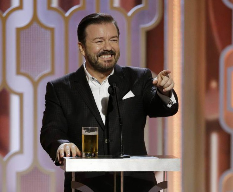 Golden Globes 2016: Ricky Gervais labelled 'transphobic' for jokes about Caitlyn Jenner