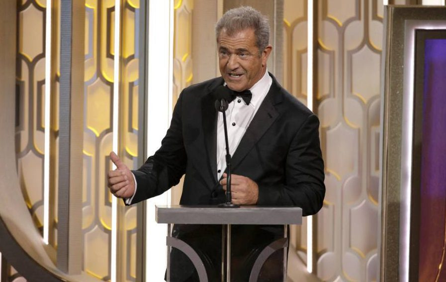 BEVERLY HILLS, CA - JANUARY 10: In this handout photo provided by NBCUniversal, Presenter Mel Gibson speaks onstage during the 73rd Annual Golden Globe Awards at The Beverly Hilton Hotel on January 10, 2016 in Beverly Hills, California. (Photo by Paul Drinkwater/NBCUniversal via Getty Images)