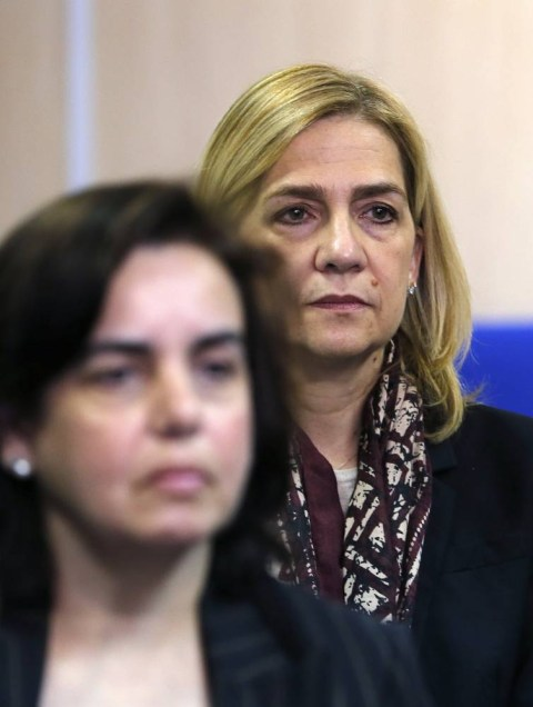 Princess Cristina of Spain on trial for alleged involvement