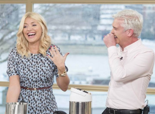 EDITORIAL USE ONLY. NO MERCHANDISING Mandatory Credit: Photo by Ken McKay/ITV/REX/Shutterstock (5540038ay) Holly Willoughby and Phillip Schofield 'This Morning' TV show, London, Britain - 12 Jan 2016 Winter Soup Phil Vickery has the best soup makers on the market and whips up a couple of batches of broth to ward off the January chill.