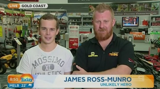 Interview with Australian heroes leaves news team in hysterics