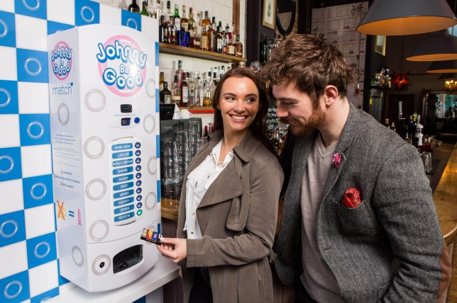 According to Match research, over a third of singles admit they have never slept with someone for the first time completely sober. As a result, Match has launched an initiative to encourage people to have confidence and date sober by creating Johnny Be Good, the worldís first breathalyser activated condom machine, which only released condoms to those who are sober. Laura Gallagher (28) and Will Turner-Roden (28) try out the machine in a north London pub. See story. With over a third of singles admitting that they have never slept with someone for the first time sober, Match has launched an initiative to encourage people to have the confidence to date sober. Championing sober sex, Match has created the worldís first breathalyser activated condom machine ñ with condoms released to those who are sober only. This machine has been positiong in a pub in central London, and aims to encourage singles to have the confidence to get out there and date sober. This initiative is backed by research which showed that the average date involves three drinks for Dutch courage, with three quarters of active daters saying that alcohol makes it easier to date. Other data includes: - Over half (52 per cent) of singles donít think they could have the confidence to approach someone if they are sober - A third (38 per cent) donít have the confidence to get naked in the bedroom without having booze beforehand - Four in ten (42 per cent) recent sexual experiences have taken place under the influence