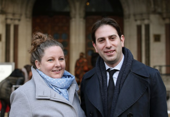 """File photo dated 19/01/16 of Rebecca Steinfeld (left) and Charles Keidan, a heterosexual couple who want to enter into a civil partnership rather than marry as they are set to find out if they have persuaded a High Court judge that they are being discriminated against. PRESS ASSOCIATION Photo. Issue date: Friday January 29, 2016. The academics who live in Hammersmith, west London, argue that the Government's position on civil partnerships is """"incompatible with equality law"""". See PA story COURTS Partnership. Photo credit should read: Yui Mok/PA Wire"""