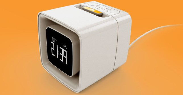 sensorwake alarm clock that wakes you up with scents of fresh croissants and coffee rather than sounds