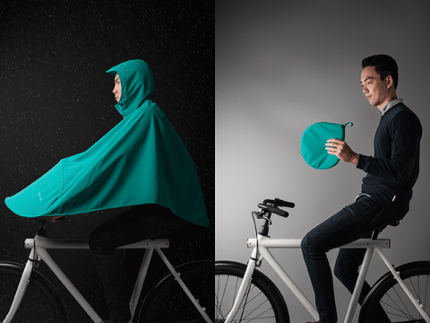 Love cycling, hate cycling in the rain? Get a Boncho…
