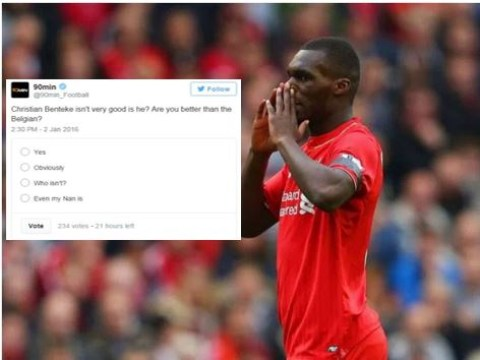 Christian Benteke gets blasted on Twitter following woeful display for Liverpool v West Ham United in the Premier League