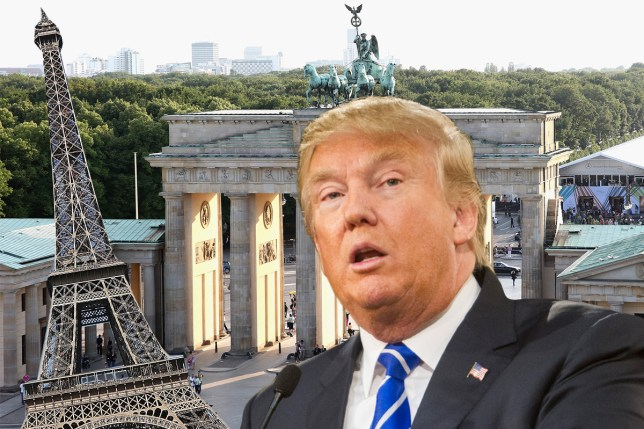 Donald Trump thinks Paris is in Germany Getty