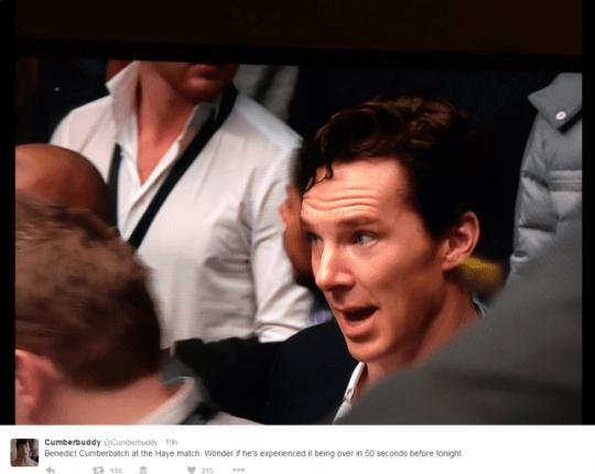 Cumberbatch at boxing