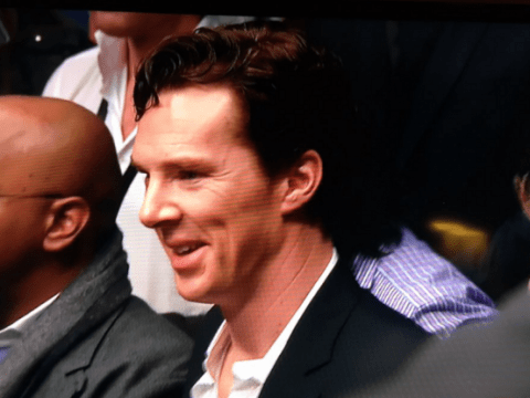 Benedict Cumberbatch went to a boxing match and Twitter loved it