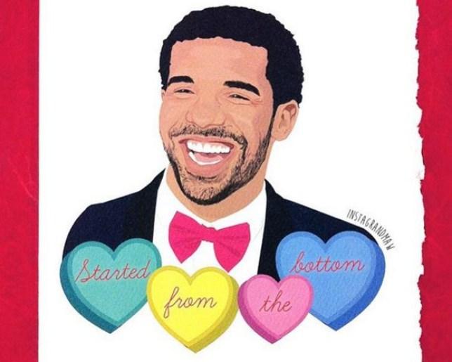 drake valentines card