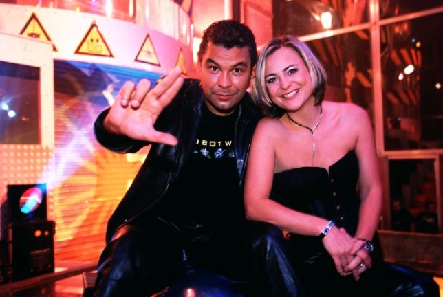 Television programme : ROBOT WARS presented by Craig Charles and Philippa Forrester.