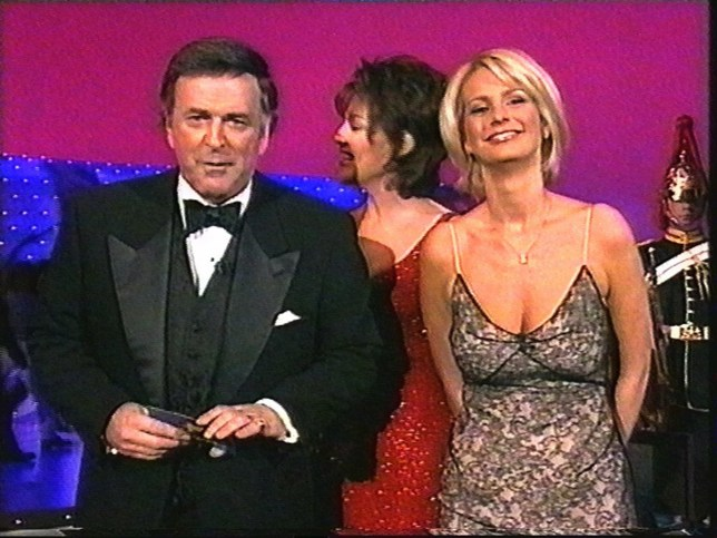 Terry Wogan and Ulrika Jonnson host the 1998 Eurovision Song Contest.
