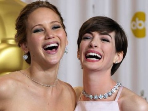 Anne Hathaway totally has Jennifer Lawrence's back over that Golden Globes press room incident