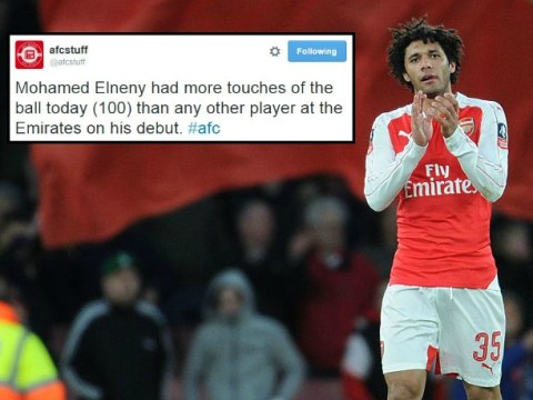 Mohamed Elneny had the most touches of any player on his Arsenal debut