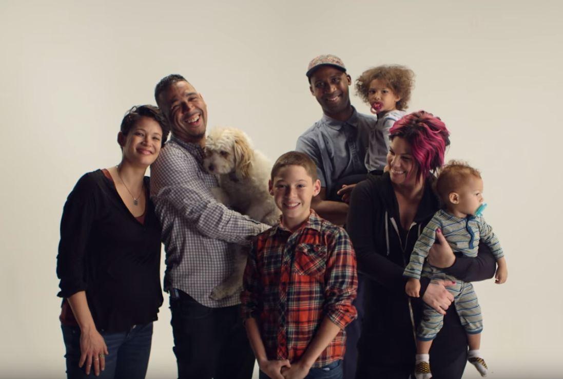 family with divorced parents jamey and tara and stepparents natasha and jason and son nak