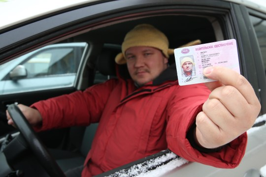 FBBYCW Moscow, Russia. 14th Jan, 2016. Russian Pastafarian Church believer Andrei Filin, the first Russian to win the right to pose wearing a knitted pasta strainer in his driver's license photo. © Artyom Korotayev/TASS/Alamy Live News Credit: Alamy
