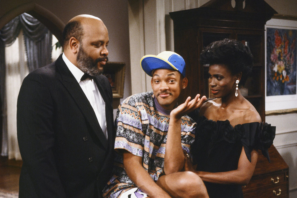 THE FRESH PRINCE OF BEL-AIR -- Pilot Gallery -- Pictured: (l-r) James Avery as Philip Banks, Will Smith as William 'Will' Smith, Janet Hubert as Vivian Banks -- Photo by: Chris Haston/NBCU Photo Bank