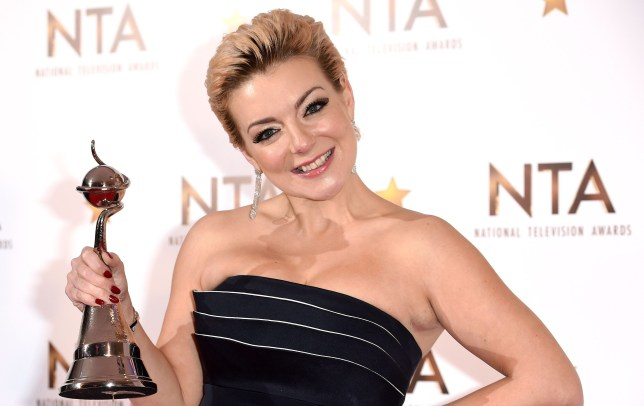 LONDON, ENGLAND - JANUARY 21: Sheridan Smith, winner of the Best Drama Performance award, poses in the winners room at the National Television Awards at 02 Arena on January 21, 2015 in London, England. (Photo by Karwai Tang/WireImage)