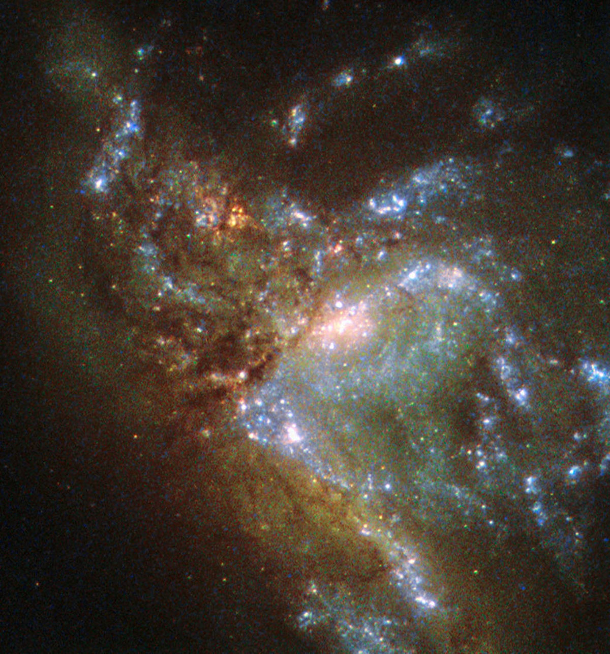 The galaxy NGC 6052, located around 230 million light-years away in the constellation of Hercules (Picture ESA/Hubble)