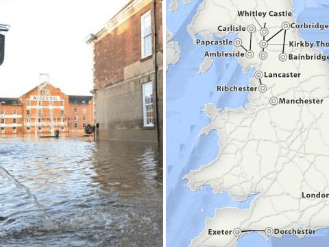 Flood maps reveal long-lost Roman roads across England