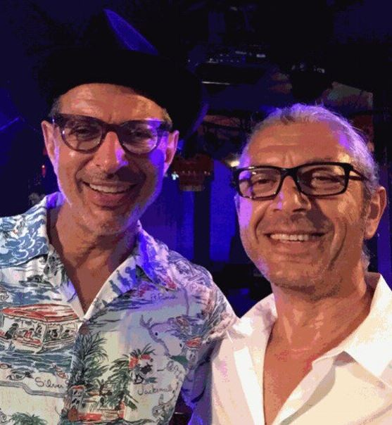 Will the real Jeff Goldblum please stand up? This lookalike is UNCANNY