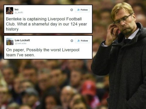 Liverpool fans say starting XI for Exeter in the FA Cup is the worst in their 124-year history