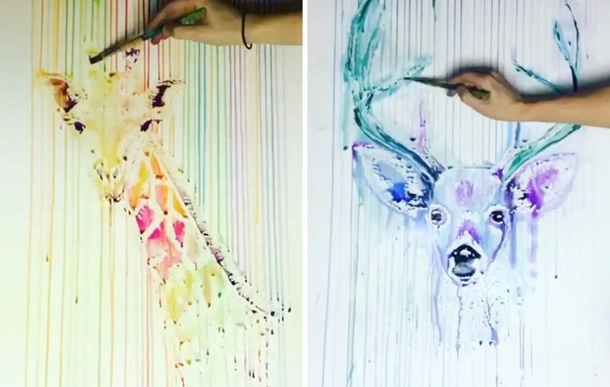 lexi hannah drip watercolour