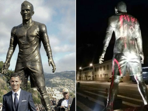 Lionel Messi fans vandalise Cristiano Ronaldo statue after 2016 Ballon D'Or win