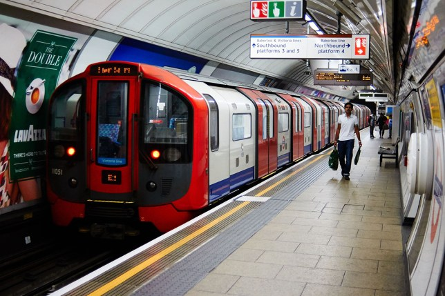 File photo dated 05/08/15 of a Victoria line train leaving Oxford Circus, London, as maintenance workers on London Underground are to be balloted for strikes in the long- running dispute over plans for a night Tube service. PA